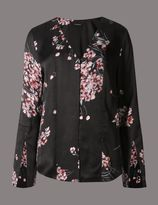 Marks and Spencer Floral Print Romantic Blouse
