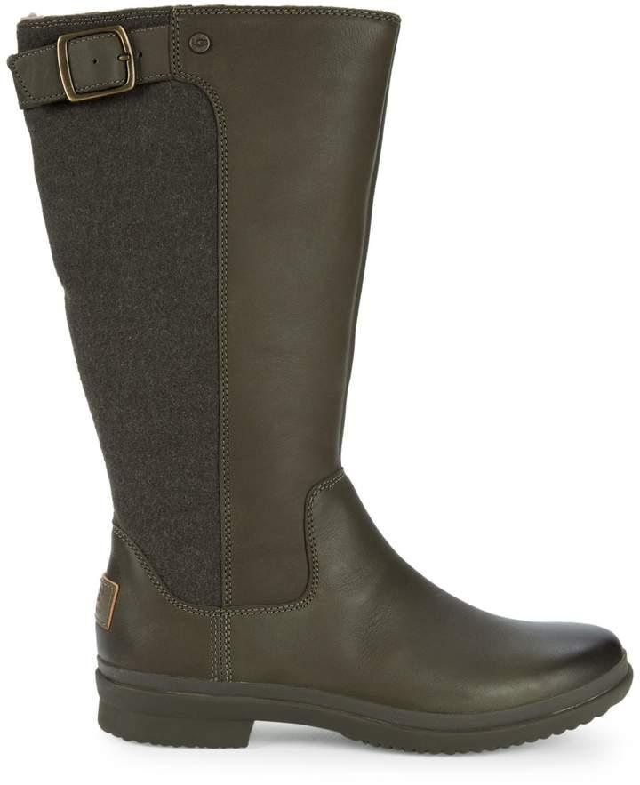 59dbc30e62d Janina Leather & Textile Rain Boots