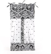 Sleeping Partners Seed Sprout - Damask Diaper Stacker, Black and White