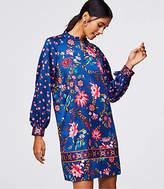 LOFT Tall Wildflower Satin Shift Dress