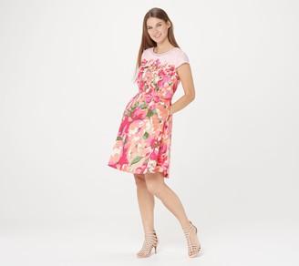 Isaac Mizrahi Live! Engineered Floral Print Woven Dress