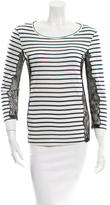 Emilio Pucci Striped Lace-Accented Top