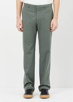 Jil Sander medium green morris trouser