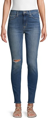 Hudson Blair Distressed High-Rise Super Skinny Jeans