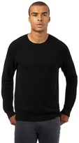 Red Herring Big And Tall Black Textured Jumper