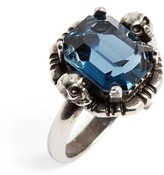 Alexander McQueen Women's Stone Skull Ring