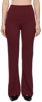 Nanushka Red Cashmere Rib Leba Lounge Pant