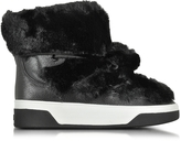 Michael Kors Nala Fur and Calf Hair High-Top Sneaker/Boot