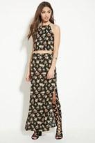 Forever 21 FOREVER 21+ Rose Print Maxi Skirt