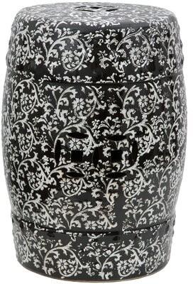 Oriental Furniture Floral Porcelain Garden Stool