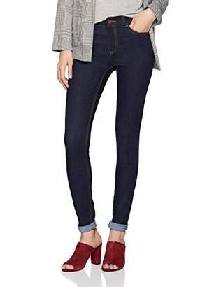 Pieces Women's Pcfive Delly B157 Mw JNS Db305-ba Skinny Jeans, Dark Blue Denim