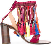 Chloé rainbow tassel sandals - women - Leather/Suede/Viscose - 37