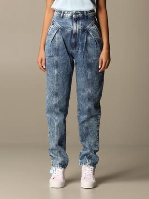Chiara Ferragni Jeans In Marbled Denim
