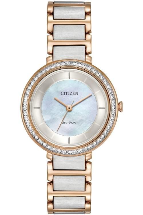 Citizen Ladies Silhouette Crystal Watch EM0483-89D
