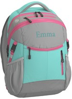 Pottery Barn Kids Backpack, Colton Aqua/Pink Trim