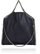 Stella McCartney Women's Falabella Shaggy Deer Foldover Tote-NAVY