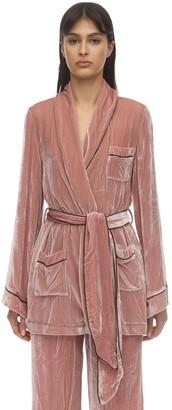 Sleeping With Jacques The Bon Vivant Silk Velvet Robe