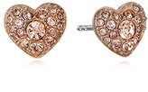 Fossil Glitz Heart Stud Earrings
