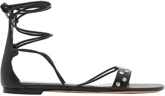 Alexander McQueen Lace-up Studded Leather Sandals