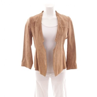 Drykorn Beige Leather Jacket for Women