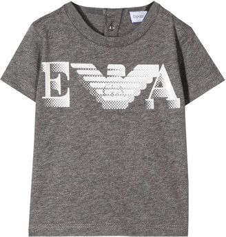 Emporio Armani Grey Baby T-shirt With Frontal Print