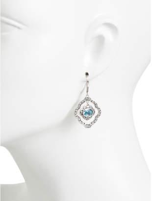 Sterling Silver Swarovski Crystal Open Work Earrings