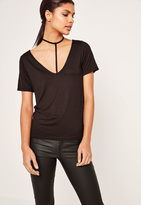 Missguided Harness Detail T Shirt Black