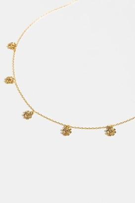 francesca's Amara Floral Drops Choker - Gold