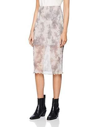 New Look Women's Tie Dye Mesh 6183196 Skirt,8 (Manufacturer Size:8)