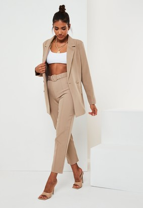 Missguided Tall Stone Co Ord Long Blazer
