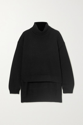 Tom Ford Asymmetric Cashmere Turtleneck Sweater - Black