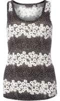 Dorothy Perkins Womens Black Ditsy Spot Print Vest- Black