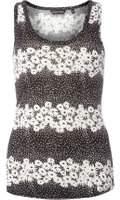 Dorothy Perkins Womens Black Ditsy Spot Print Vest