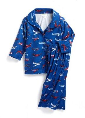 CAPELLI Two-Piece Airplanes Pajama Set