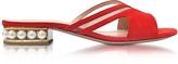 Nicholas Kirkwood Casati Coral Red Suede Slide