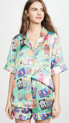 Karen Mabon Wish You Were Here Short Sleeve Pajama Set