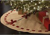 Beekman 1802 Heirloom Holiday Burlap Christmas Tree Skirt in Beige
