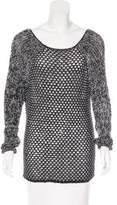 Helmut Lang Open Knit Long Sleeve Sweatshirt