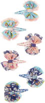 Monsoon 6x Layer Bow Printed Click Clack Hair Clips