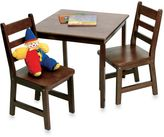 Lipper Square Table & 2 Chairs Set in Walnut Finish
