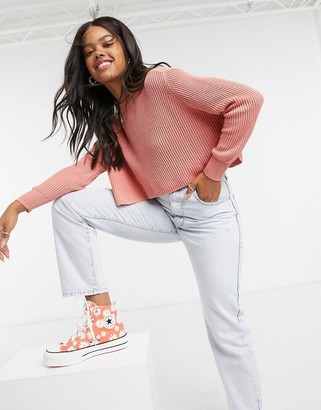 Cotton On Cotton:On ribbed neck jumper in pink