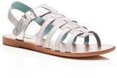 Toms Girls' Huarache Metallic Sandals