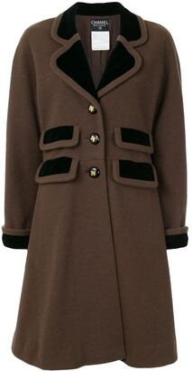 Chanel Pre Owned knee-length A-line coat