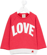 Douuod Kids - love print sweatshirt - kids - Cotton/Polyester - 8 yrs