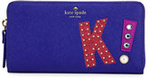 "Kate Spade Hartley Lane Lacey ""K"" Wallet, Nightlife Blue"