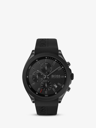 HUGO BOSS Men's Velocity Chronograph Date Silicone Strap Watch