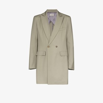 BED J.W. FORD Double-Breasted Wool Blazer Jacket