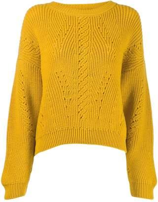 Alberta Ferretti cut-out detail knit sweater