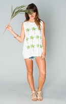 MUMU Mikey Muscle Tank ~ Palm Party Graphic