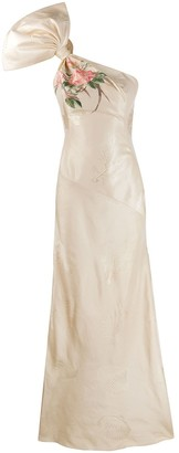 Alexander McQueen One-Shoulder Evening Gown
